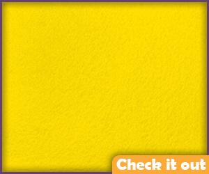 Yellow Felt Fabric.