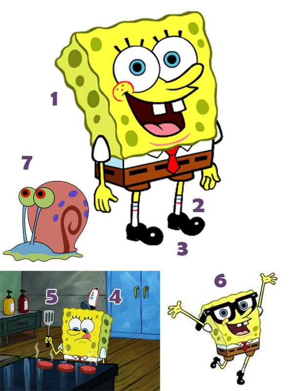 SpongeBob SquarePants Costume Parts.
