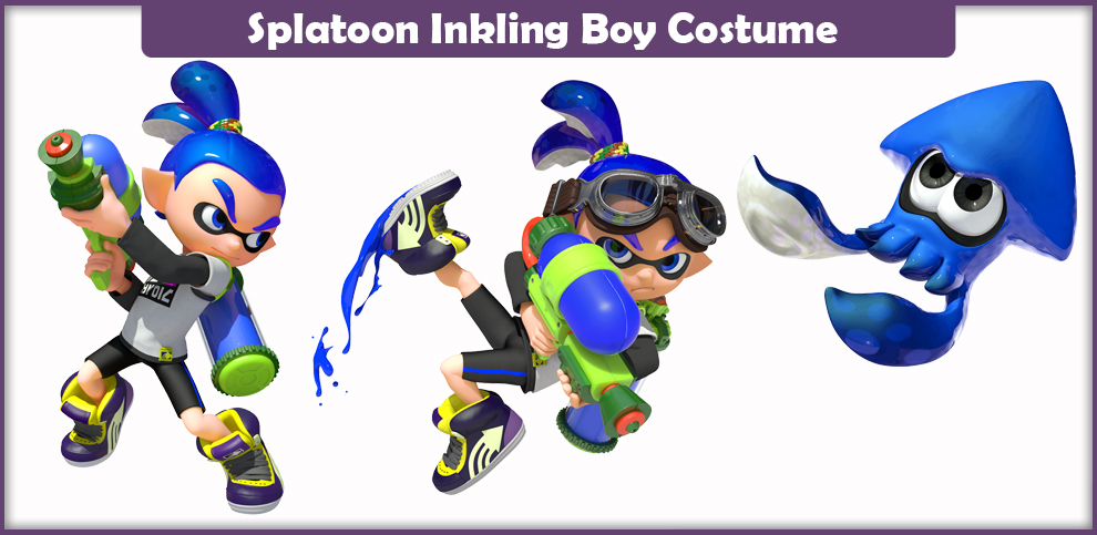 Splatoon Inkling Boy Costume