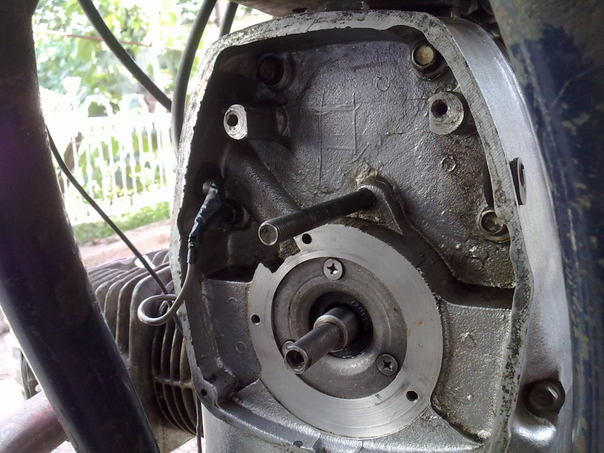 hight resolution of you need to open the ignition cover at the front of the engine to find the ignition system disconnect the wires going to spark plugs and remove