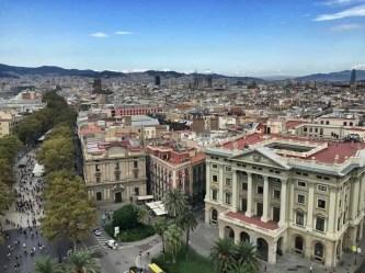 Las Ramblas in Barcelona - von der Kolumbussäule aus gesehen