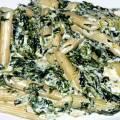 Penne cu spanac si gorgonzola