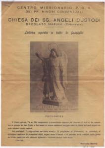 centro missionario poa BADOLATO MARINA  1956-1958 documento