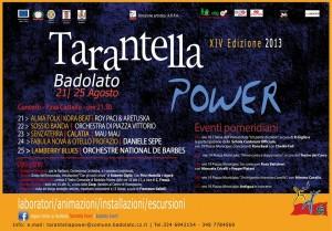 tarantella power - manifesto 14 edizione 2013 Badolato