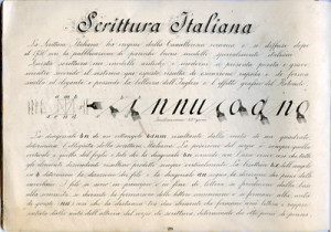 scrittura italiana 1912