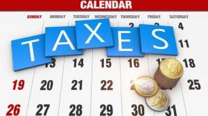 Taxes Calender