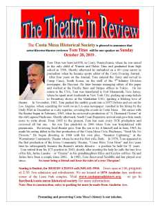 The Theatre in Review with Tom Titus