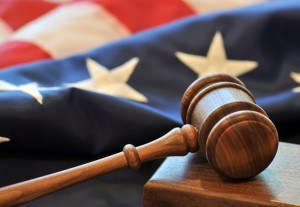 Employment Lawyer in San Jose flag and gavel