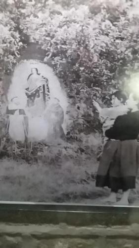 Little girl seeing vision of Virgin Mary