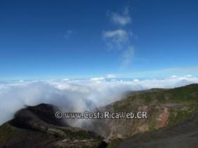 Irazú Volcano National Park principal crater in Cartago, Costa Rica