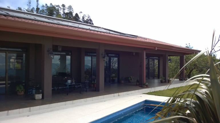 heated pool at hi-end 3 BR house for sale with bonus casita for jsut $599USD, San Ramon Costa Rica
