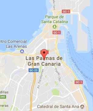 Mapa de las Palmas de Gran Canaria
