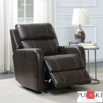 Pulaski Brown Leather Power Glider Recliner Chair Costco Uk