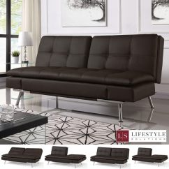 Sofa At Costco Uk Modern Style Sofas Ravenna Brown Bonded Leather Euro Lounger Convertible Bed