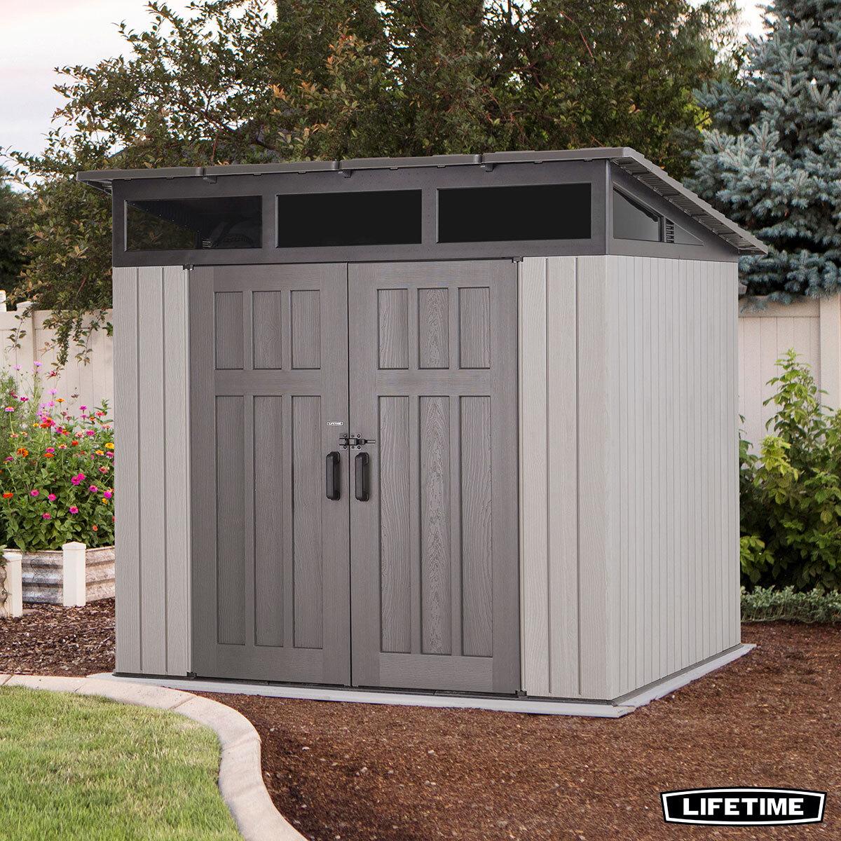 lifetime 8ft 4 x 8ft 4 2 54 x 2 54m studio storage shed costco uk