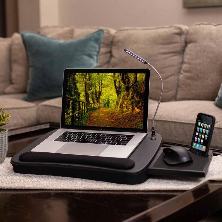 birdrock multi tasking lap desk with mouse deck and light costco uk