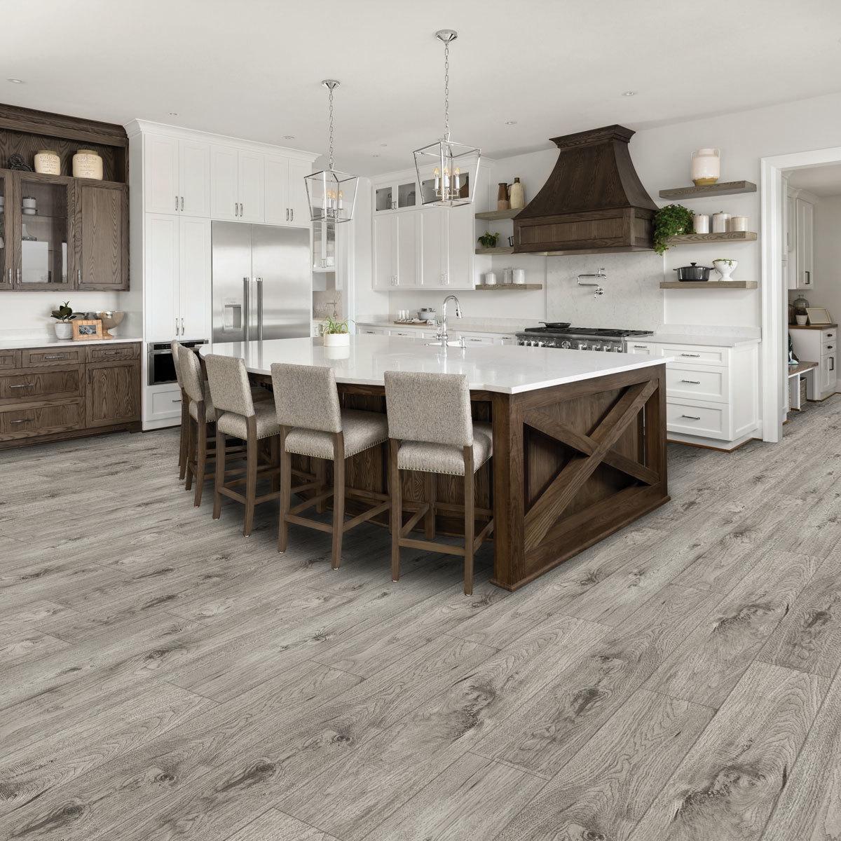 golden select modern grey rigid core spc luxury vinyl flooring planks with foam underlay 1 33 m per pack costco uk