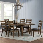 Bayside Furnishings Extending Dining Table 6 Ladder Back Chairs Seats 4 8 Costco Uk
