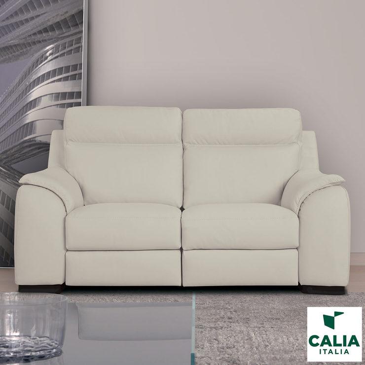italy leather sofa uk black and white striped calia italia serena 2 seater power recliner cream italian costco