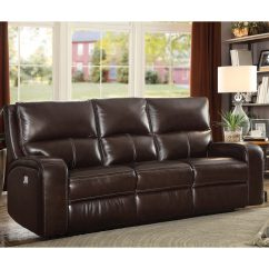 Electric Recliner Leather Sofas Uk Clark Sleeper Sofa Zach 3 Seater Brown Power Costco