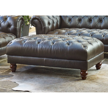 living room footstool rooms with black leather couch footstools ottomans furniture wellington semi aniline chesterfield chocolate