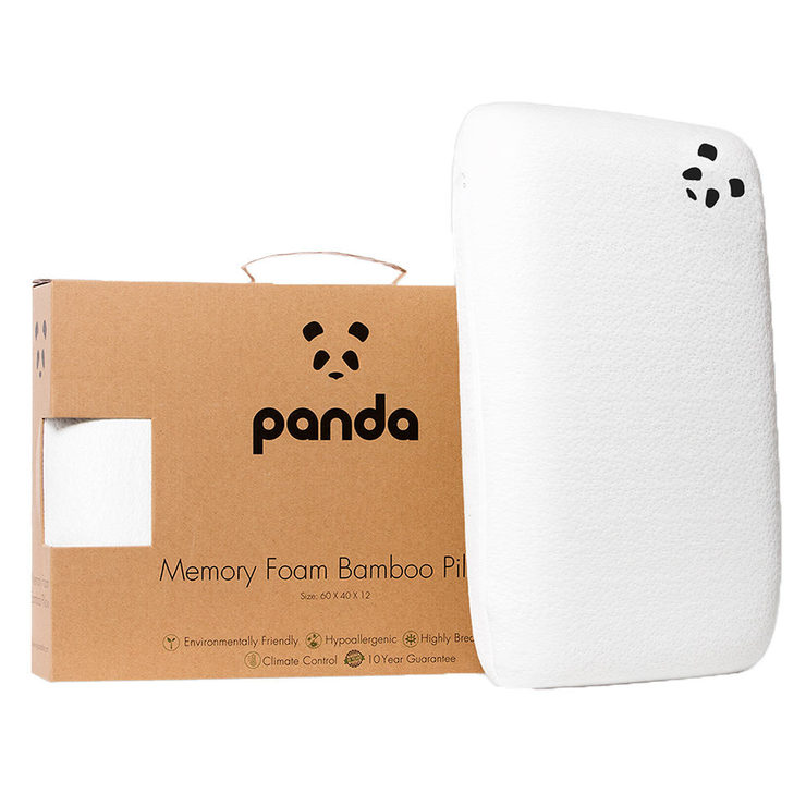 panda memory foam pillow with bamboo cover costco uk
