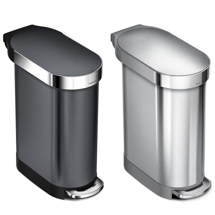 Simplehuman 45 Litre Stainless Steel Slim Pedal Bin In 2 Colours Costco Uk