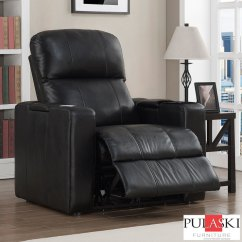 Power Recliner Chairs Uk Wingback Desk Chair Talos Black Leather Home Theatre Armchair Costco