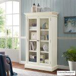 Universal Furniture Elida 168 Cm 5 5 Ft Glass Door Bookcase With Adjustable Shelves Costco Uk
