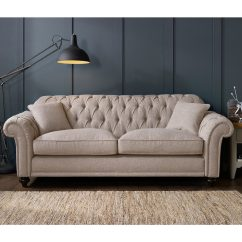 3 Seater Fabric Sofa Barcelona Replica Bordeaux Button Back In 2 Colours Costco Uk