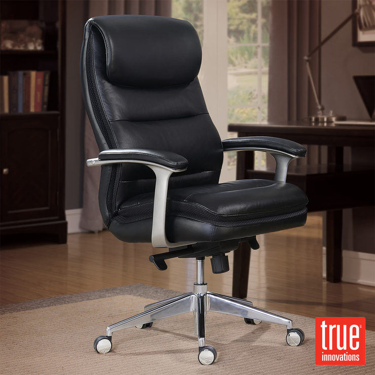 True Innovations Leather Executive Chair  Costco UK