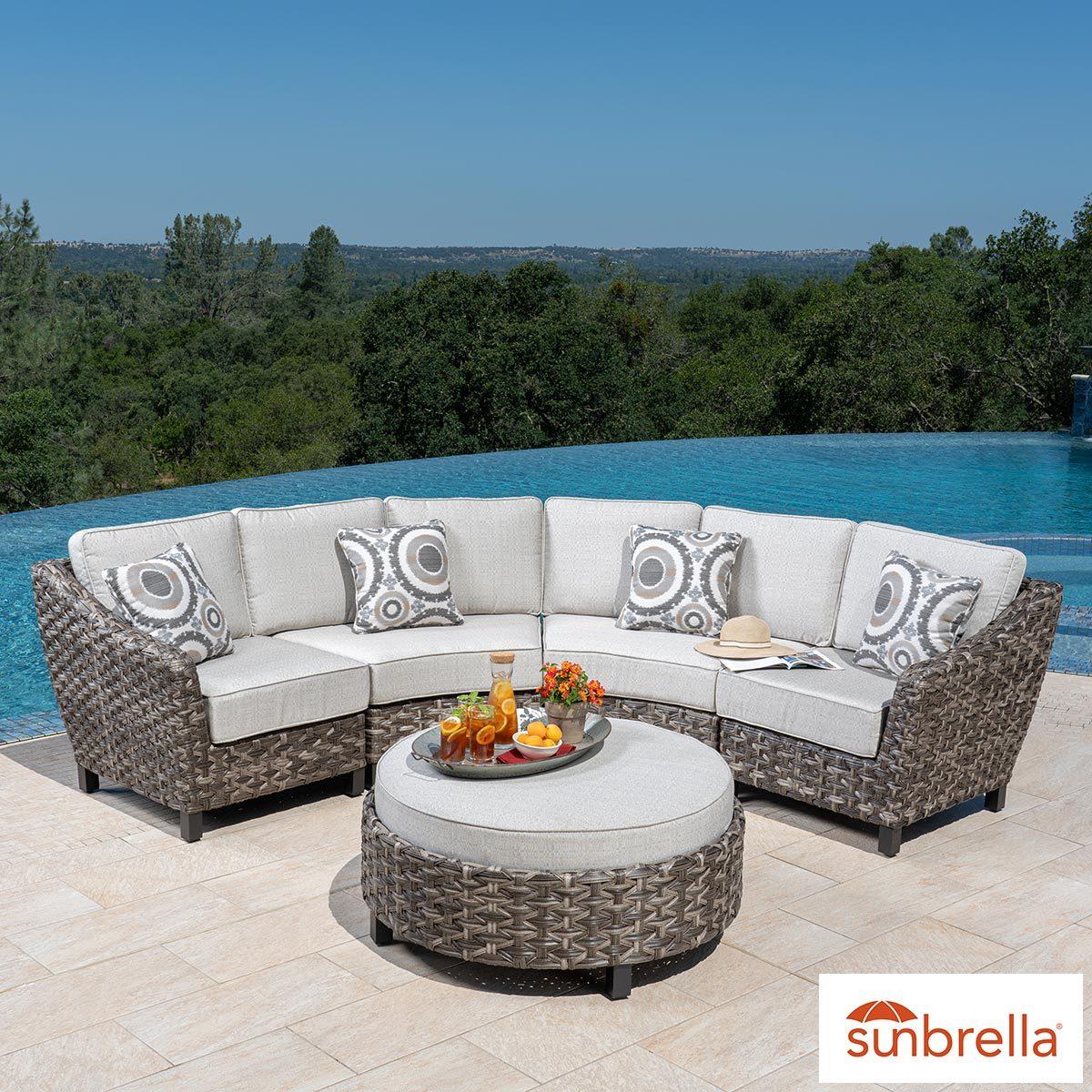 foremost vigo 5 piece sectional patio set costco uk