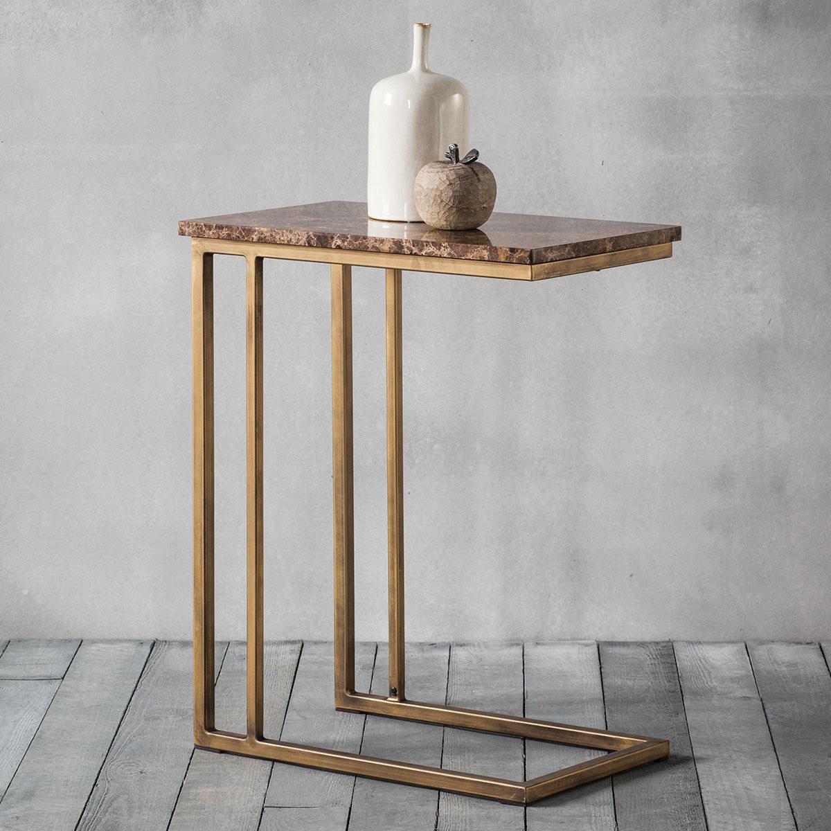 Emperor Brown Marble Side Table Costco Uk