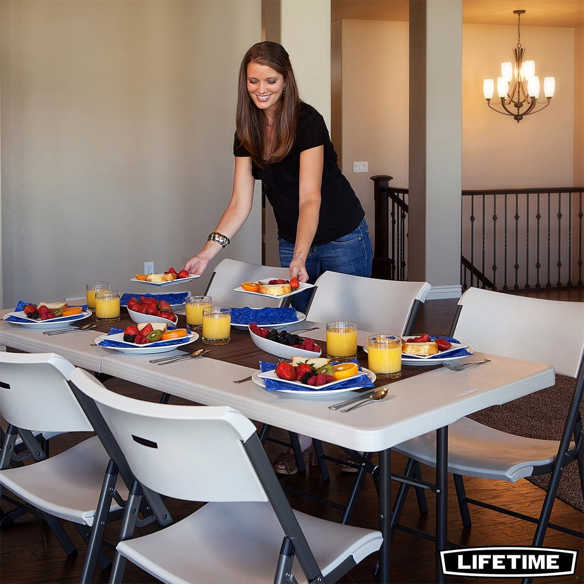 lifetime 6ft fold in half commercial grade table costco uk