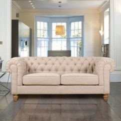 Sofa At Costco Uk Down Filled Canada Chesterfield 3 Seater Fabric Natural