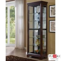 Pulaski Display Cabinet with LED Light, Adjustable Glass ...