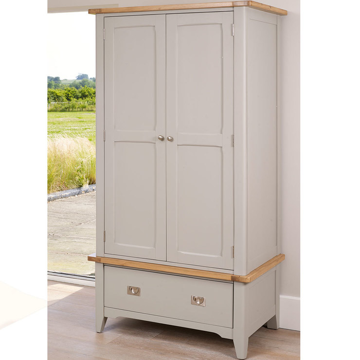 bordeaux painted wardrobe with