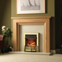 Dimplex Mansfield 2kW Brass Optimyst Electric Inset Fire ...