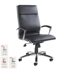 Revolving Chair Second Hand Beach Rental Office Chairs Florence Leather Faced Executive In Black