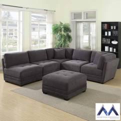 Grey Fabric Sofa Uk Corner Bed Best Price Mstar International 6 Piece Modular Sectional Costco