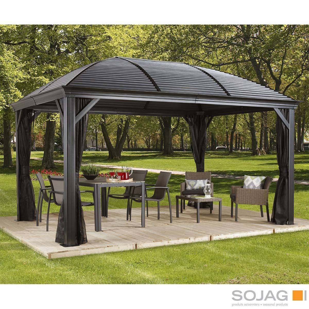 sojag moreno 10ft x 16ft 2 89 x 4 74m aluminium frame sun shelter with galvanised steel roof insect netting costco uk