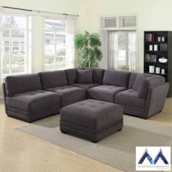 6 Piece Modular Sectional Sofa Paint Faux Leather Mstar International Grey Fabric Costco Uk