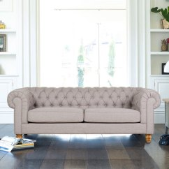 Sofa At Costco Uk Hannah Chesterfield 4 Seater Fabric Dove Grey |