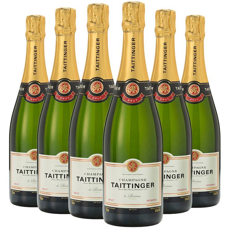 Taittinger Brut Reserve NV Champagne. 6 x 75cl | Costco UK