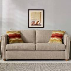 Orange Sofa Uk Curved Sofas Canada All Ohio 4 Seater Fabric With 2 Accent Pillows Natural