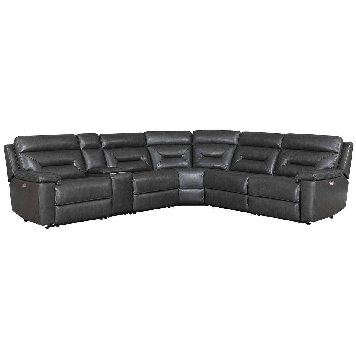 kuka remmy reclining sectional 6pc