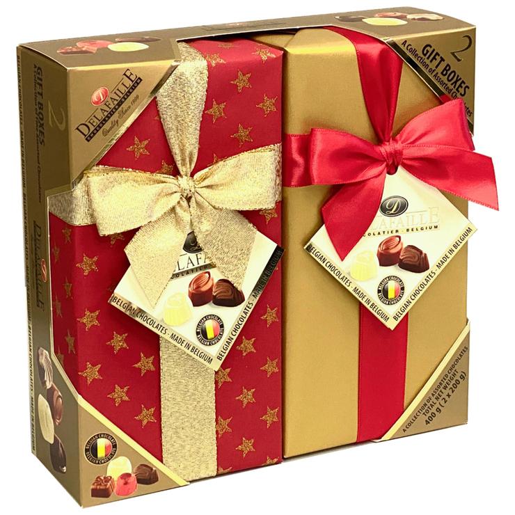 Delafaille Belgian Chocolate Gift Boxes 2 x 2 x 200g | Costco Australia