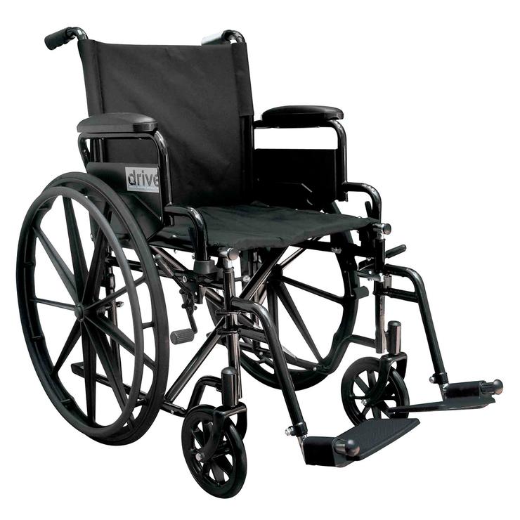 Drive silla de ruedas con rines de policarbonato de alto