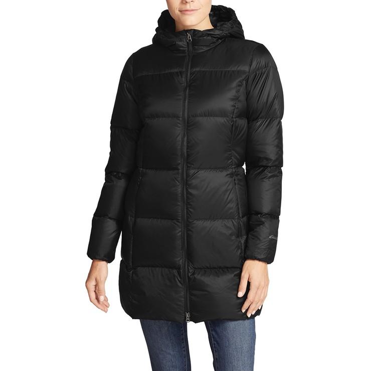 Eddie Bauer 女輕量防潑水連帽羽絨外套 黑 S | Costco 好市多線上購物