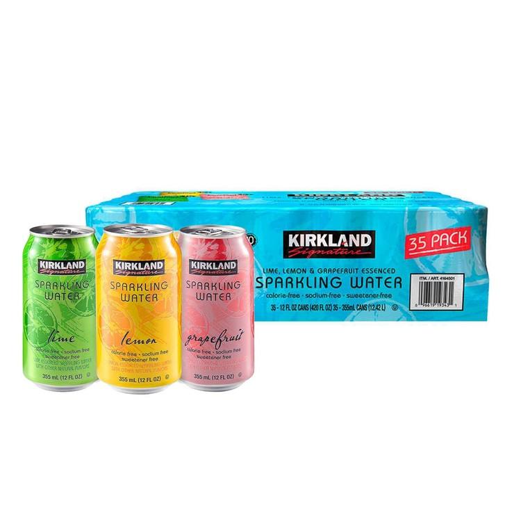 Kirkland Signature 科克蘭 水果風味氣泡水 355毫升 X 35瓶 | Costco 好市多線上購物
